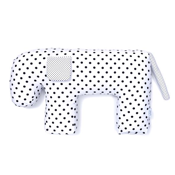almofada multifuncional estampa poá preto e branco